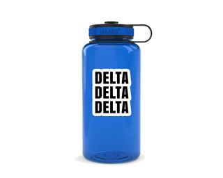 Delta Delta Delta Simple Wide Mouth Water Bottle