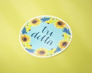 Delta Delta Delta Sunflower Sticker