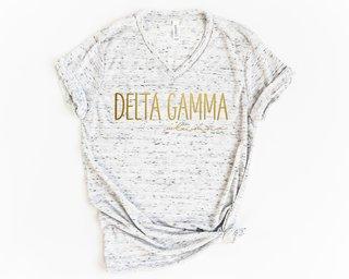 Delta Gamma Alumna Vneck Tee