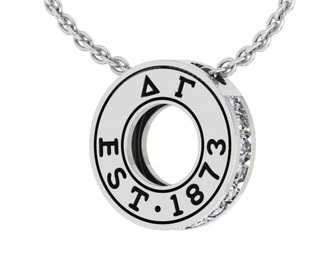 Delta Gamma Circle Established Charm Necklace - ON SALE!