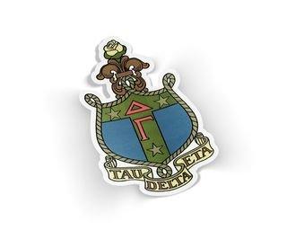 Delta Gamma Die Cut Crest Sticker