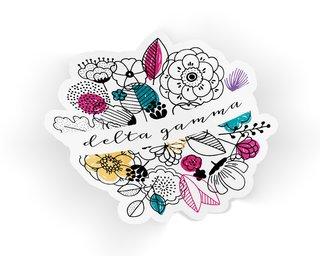 Delta Gamma Flower Sticker