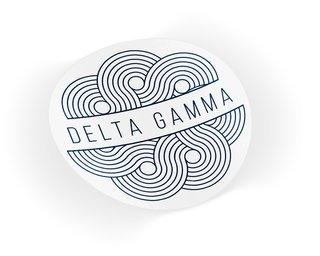 Delta Gamma Geo Scroll Sticker Sticker