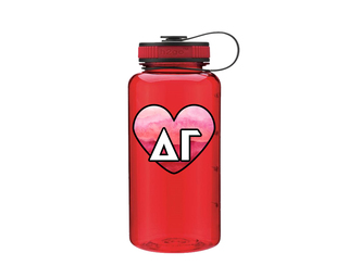 Delta Gamma Heart Wide Mouth Water Bottle
