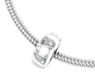 Delta Gamma Pandora Silver Bead Necklace