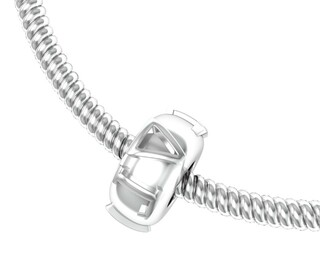 Delta Gamma Silver Bead Necklace