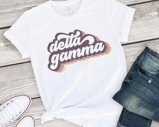 Delta Gamma Retro Script Tee