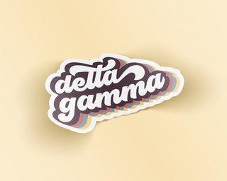 Delta Gamma Retro Sticker