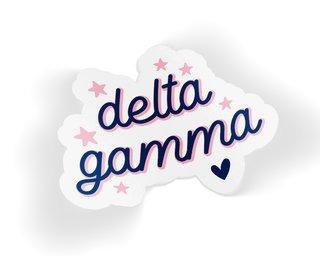 Delta Gamma Star Sticker