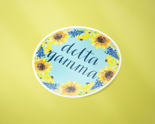 Delta Gamma Sunflower Sticker