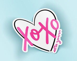 Delta Gamma XOXO Sticker