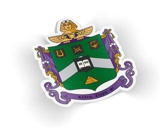 Delta Sigma Phi Die Cut Crest Sticker