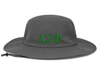 Delta Sigma Phi Greek Manta Ray Boonie Hat