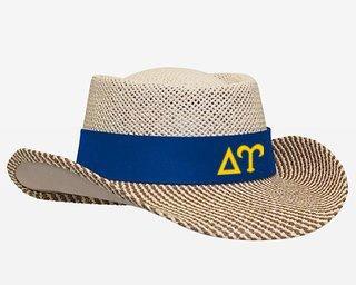 Delta Upsilon Straw Hat