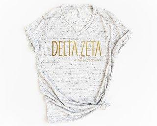 Delta Zeta Alumna Vneck Tee