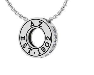 Delta Zeta Circle Established Charm Necklace - ON SALE!