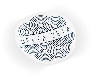 Delta Zeta Geo Scroll Sticker Sticker