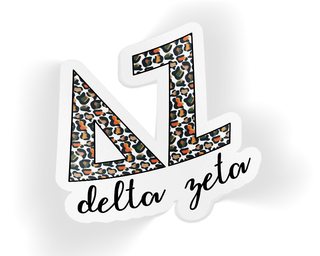 Delta Zeta Leopard Sticker