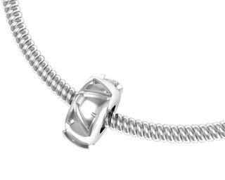 Delta Zeta Silver Bead Necklace