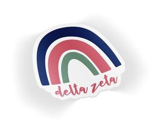 Delta Zeta Rainbow Sticker