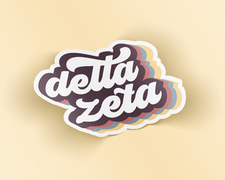 Delta Zeta Retro Sticker