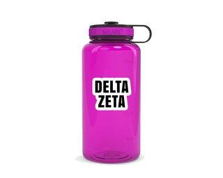 Delta Zeta Simple Wide Mouth Water Bottle