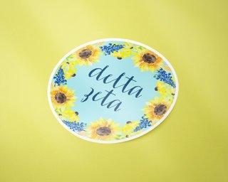Delta Zeta Sunflower Sticker