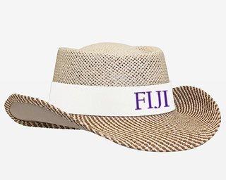 FIJI Fraternity Straw Hat