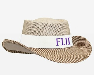 FIJI Fraternity Straw Hat