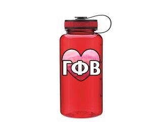 Gamma Phi Beta Heart Wide Mouth Water Bottle