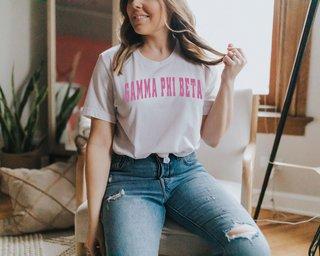 Gamma Phi Beta Letterman T-Shirts
