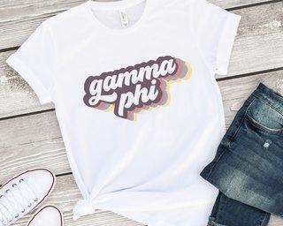 Gamma Phi Beta Retro Script Tee