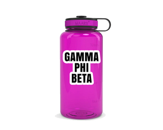 Gamma Phi Beta Simple Wide Mouth Water Bottle