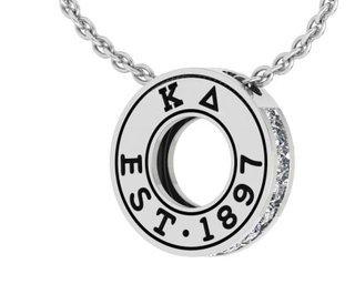 Kappa Delta Circle Established Charm Necklace - ON SALE!