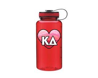 Kappa Delta Heart Wide Mouth Water Bottle