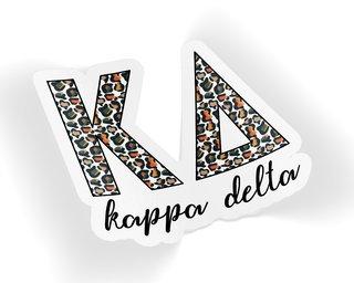 Kappa Delta Leopard Sticker