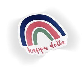 Kappa Delta Rainbow Sticker