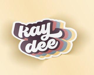 Kappa Delta Retro Sticker