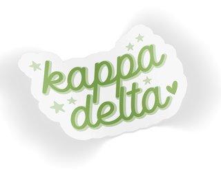 Kappa Delta Star Sticker