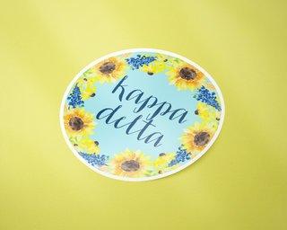 Kappa Delta Sunflower Sticker