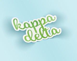 Kappa Delta Watercolor Script Sticker Sticker