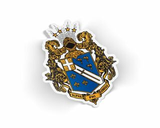 Alpha Phi Omega Die Cut Crest Sticker