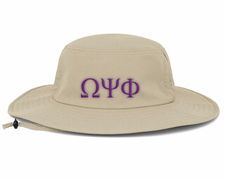 Omega Psi Phi Greek Manta Ray Boonie Hat