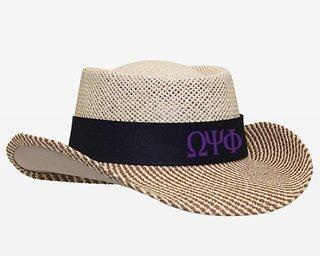 Omega Psi Phi Straw Hat