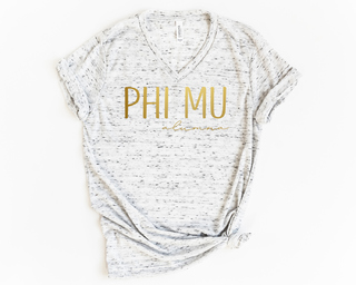 Phi Mu Alumna Vneck Tee