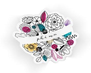 Phi Mu Flower Sticker