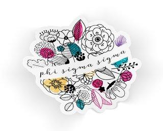 Phi Sigma Sigma Flower Sticker