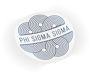Phi Sigma Sigma Geo Scroll Sticker Sticker