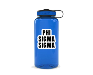 Phi Sigma Sigma Simple Wide Mouth Water Bottle