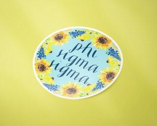Phi Sigma Sigma Sunflower Sticker